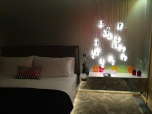 Nette Lichtinstallation im W