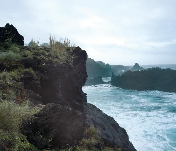 Vulkanische Steilküste bei Agua de Pau
