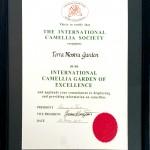 Zertifikat der Magnoliengesellschaft für den Terra Nostra Garden