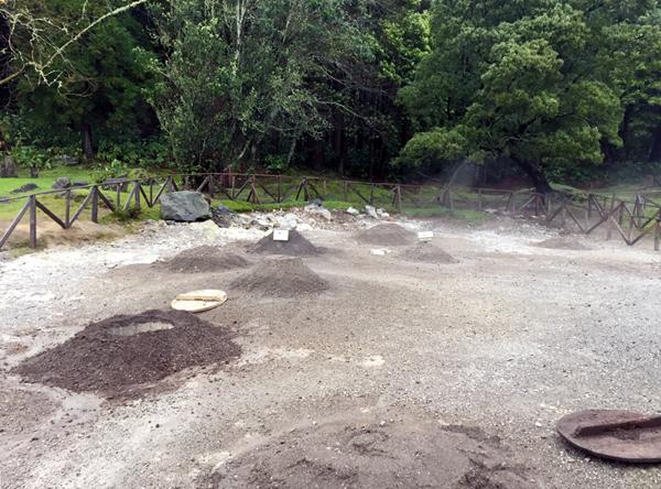 Kochen im Vulkan